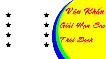 Văn khấn cúng sao giải hạn Thái Bạch