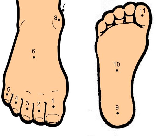 Xem tướng nốt ruồi trên bàn chân