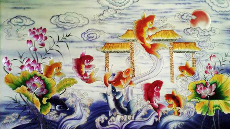 Các loại tranh cá chép phổ biến